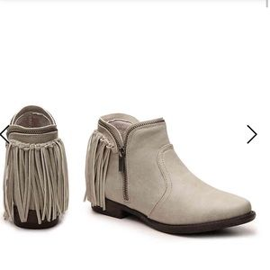 Journee Collection Shoes - Journee Collection fringe booties